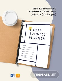 Free Simple Business Planner Template