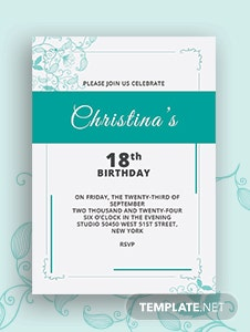 Pastel Debut Invitation Card Template in Adobe Illustrator