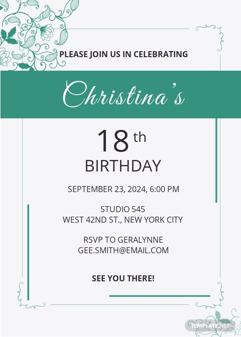 Debut Birthday Invitation Template