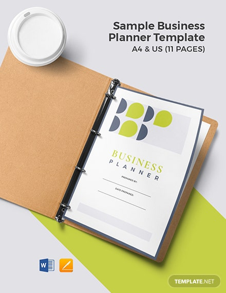 Free Sample Business Planner Template