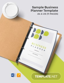 Sample Business Planner Template