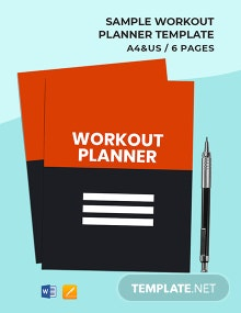 Free Sample Workout Planner Template