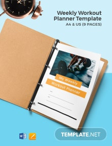 Weekly Workout Planner Template