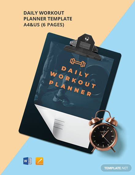 Daily Workout Planner Template
