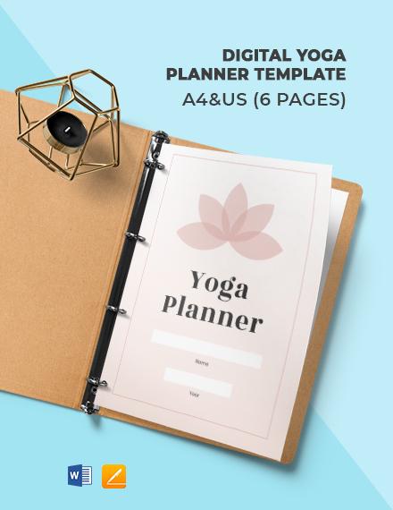 Digital Yoga Planner Template
