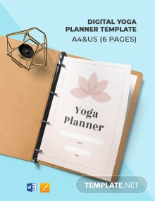 Digital Yoga Planner Template
