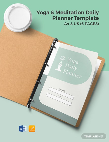 Yoga & Meditation Daily Planner Template