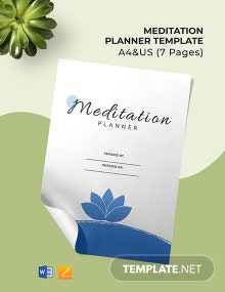 Meditation Planner Template