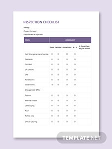 Inspection Checklist Template