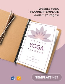 Weekly Yoga Planner Template