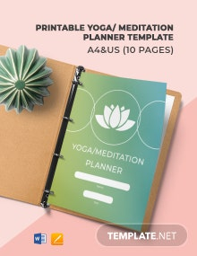 Free Printable Yoga/Meditation Planner Template