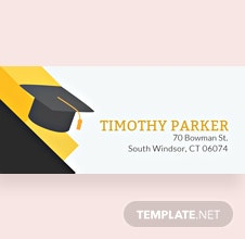 Free Graduation Address Label Template
