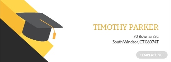 Graduation Address Label Template.jpe