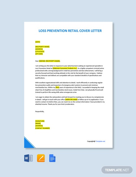 Loss Prevention Retail Cover Letter