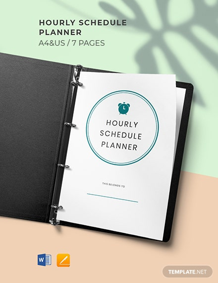 Hourly Schedule Planner Template