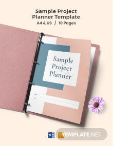 Free Sample Project Planner Template