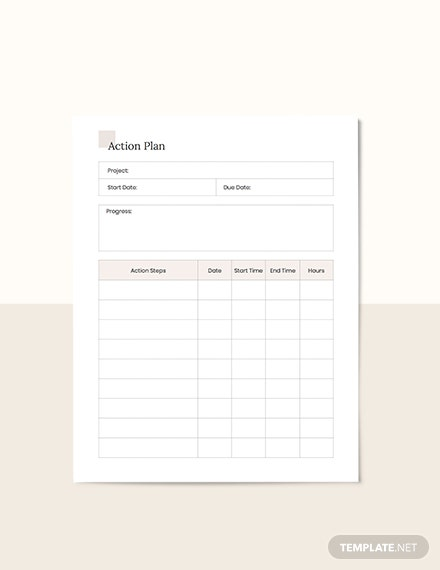 Simple Project Planner Layout