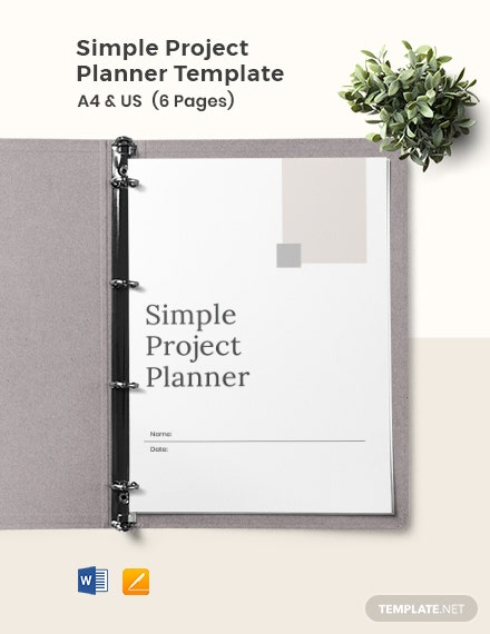 Free Simple Project Planner Template