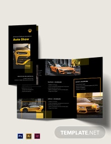 Car Show Tri-Fold Brochure Template