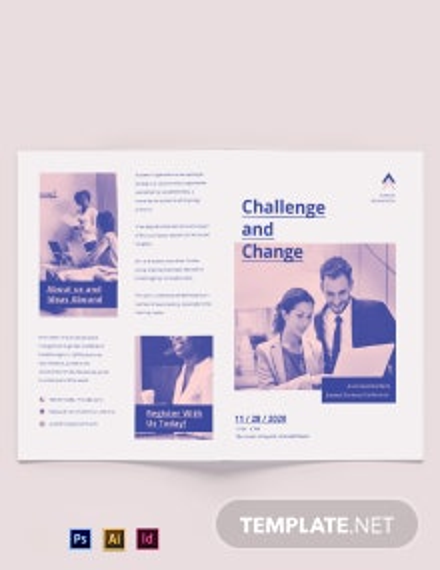 Charity Corporate Event Bi-Fold Brochure Template
