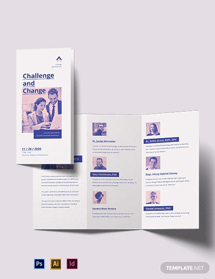 Charity Corporate Event TriFold Brochure Template