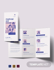 Charity Corporate Event Tri-Fold Brochure Template