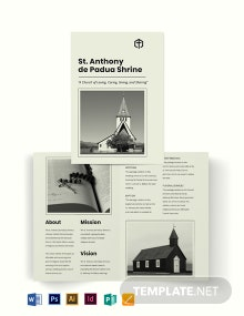 Free Simple Church Bi-Fold Brochure Template