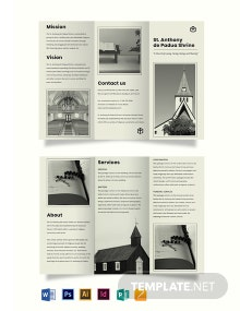 Free Simple Church Tri-Fold Brochure Template