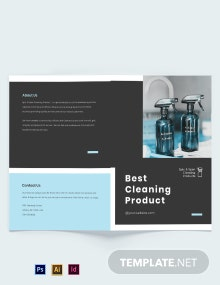 Cleaning Products Bi-Fold Brochure Template