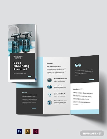 Cleaning Products Tri-Fold Brochure Template