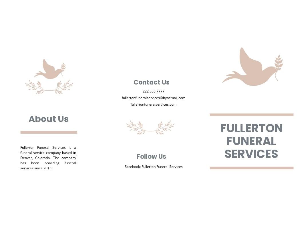 Mother /MOM Funeral Memorial Tri fold Brochure Template.jpe
