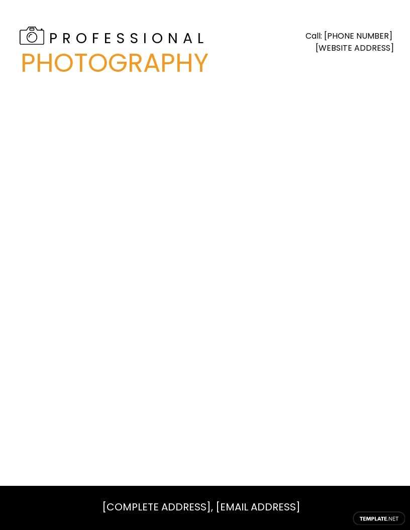 Free Photography Letterhead Template