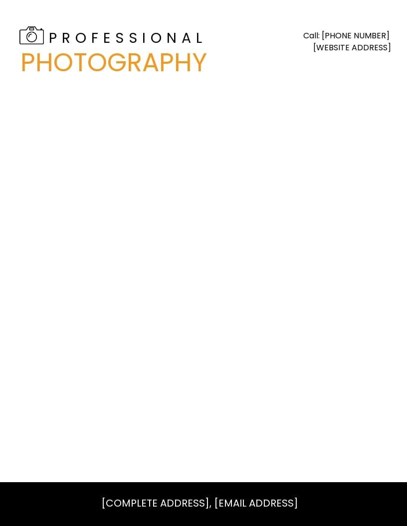 Photography Letterhead Template