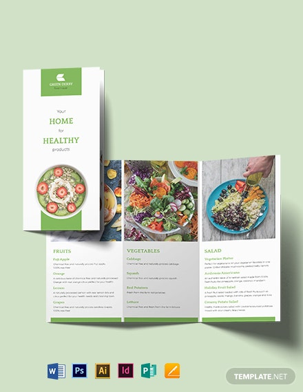 Organic Food Tri-fold Brochure Template