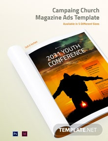 Free Campaign Church Magazine Ads Template