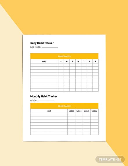 Monthly Diet Planner Template Format