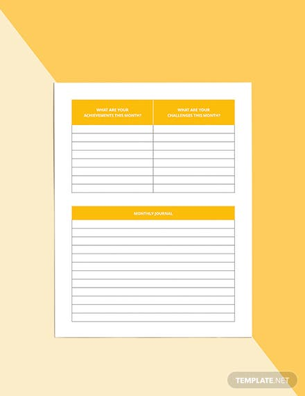 Monthly Diet Planner Template Printable