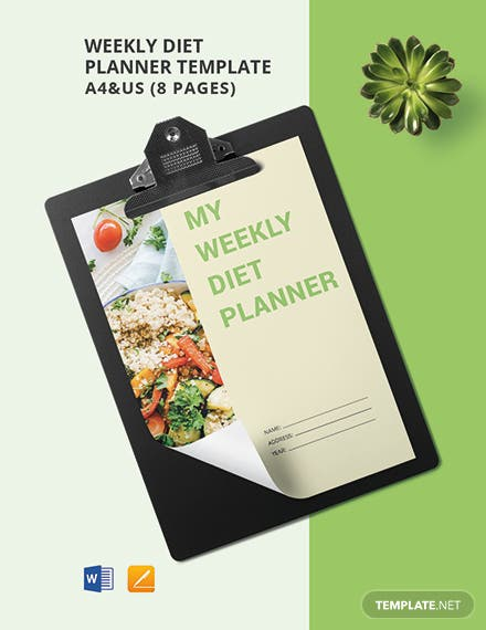 Weekly Diet Planner Template
