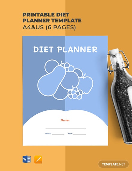 Free Printable Diet Planner Template