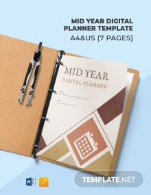 Mid Year Digital Planner Template