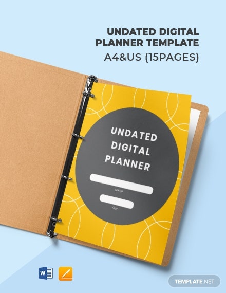 Undated Digital Planner Template