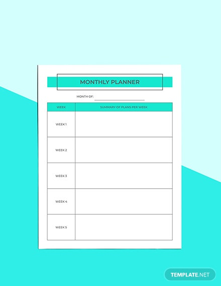 Monthly Digital Planner Download