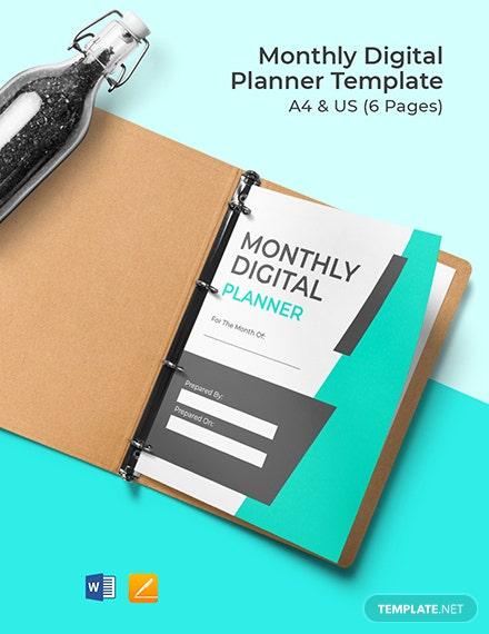 Monthly Digital Planner Format