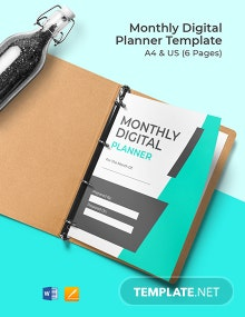 Monthly Digital Planner Template