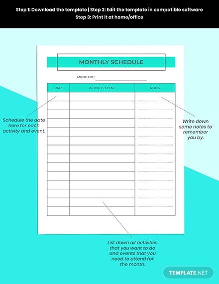 Monthly Digital Planner Printable