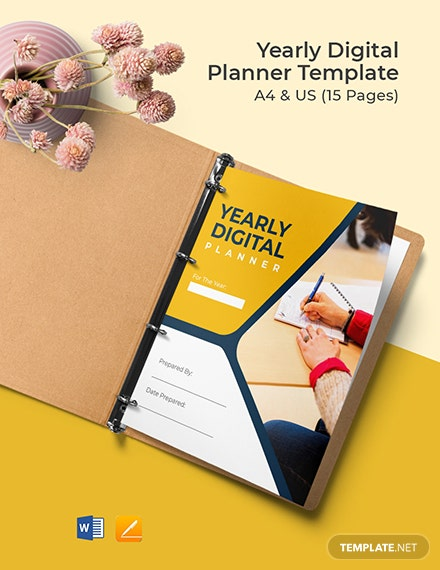 Yearly Digital Planner Template