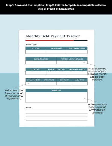 Debt Avalanche Planner Printable