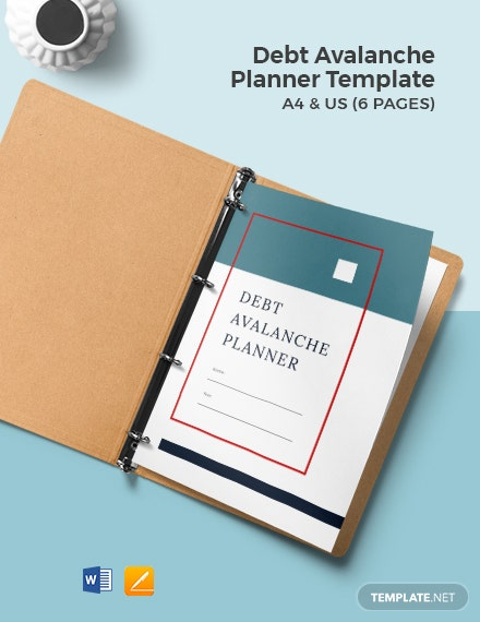 Debt Avalanche Planner Template