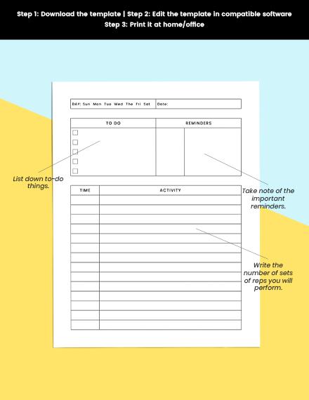 Simple Schedule planner Printable