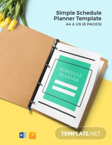 Free Simple Schedule Planner Template
